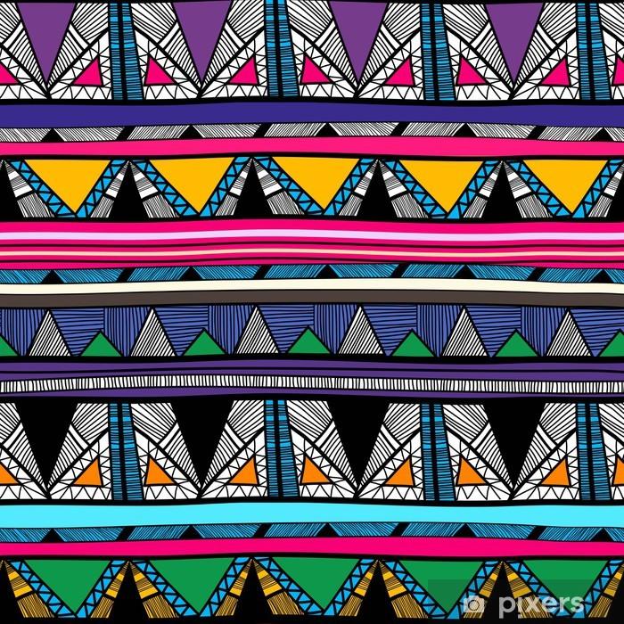 Naklejka Pixerstick Tribal tekstury - Tła