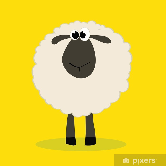 Sticker Pixerstick Mouton - Mammifères