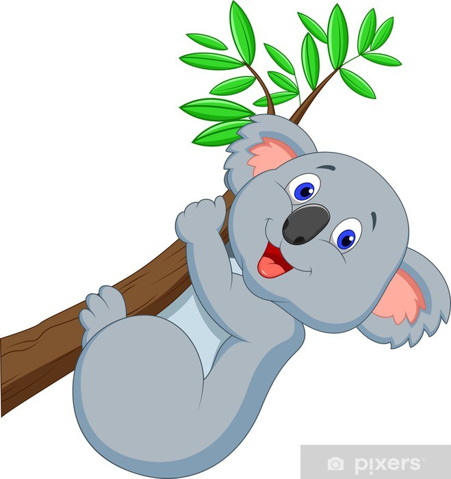 Cute Koala Cartoon Wall Mural Pixers 174 We Live To Change