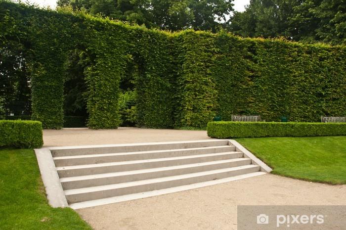Naklejka Pixerstick Schody ogród Muzeum Rodina w Paryżu - Budynki użyteczności publicznej