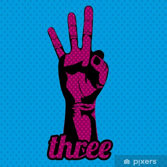 three number Vinyl Wall Mural - Body Parts
