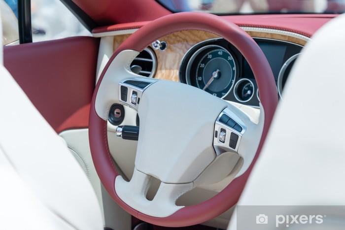 Naklejka Pixerstick Siedzenie kierowcy z otwartego samochodu - Wakacje