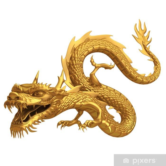 3d render of golden dragon Vinyl Wall Mural - Concept