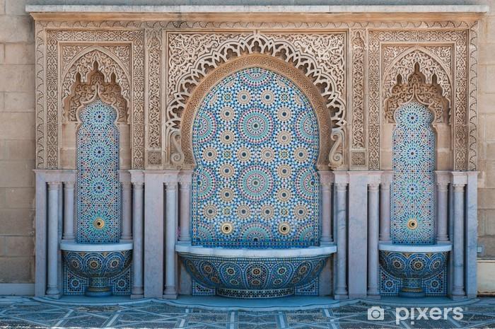 Vinyl Fotobehang Marokkaanse betegelde fonteinen - Afrika