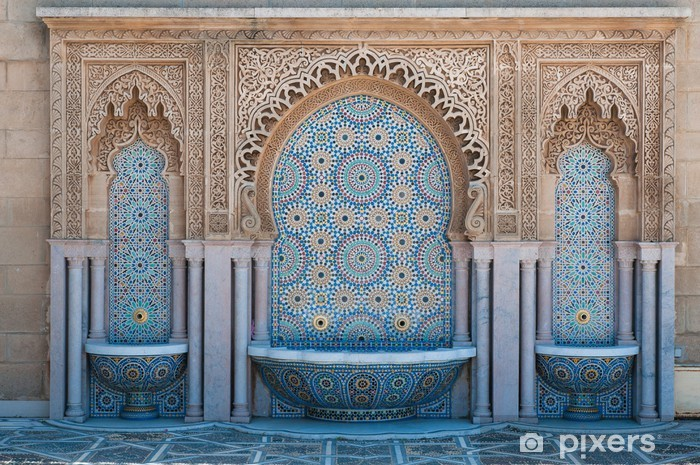 Moroccan tiled fountains Self-Adhesive Wall Mural - Africa