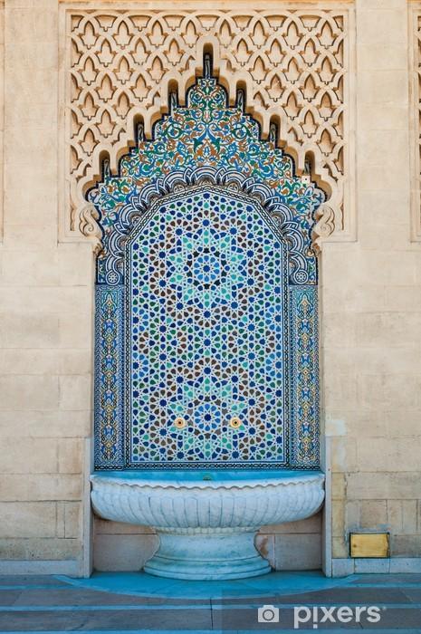 Vinilo para Nevera Fuente de azulejos marroquí - iStaging