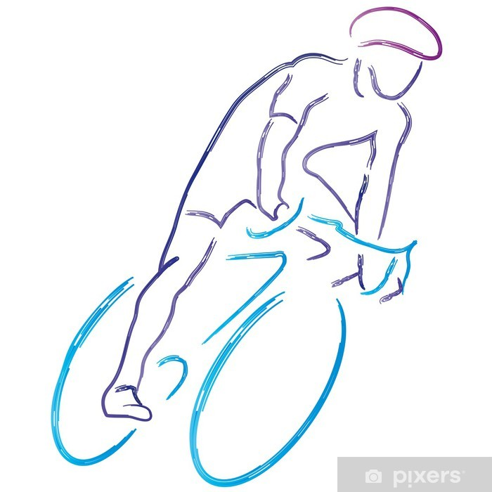 Papier peint vinyle Vélo - vélo de course - vélo - cyclisme - cycliste - Sports individuels