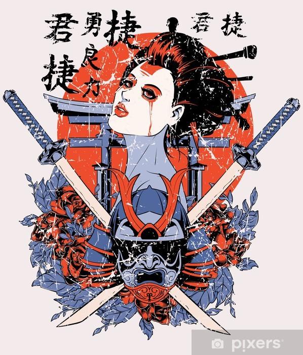 Geisha Vinyl Wall Mural - Signs and Symbols