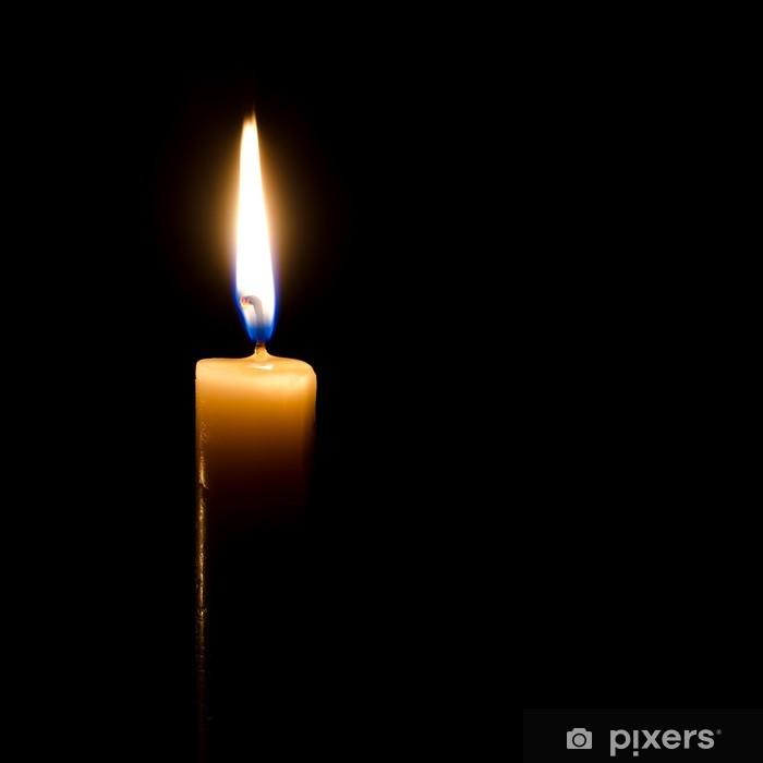 Polttava kynttilä Pixerstick tarra - Kansainväliset Juhlinnat