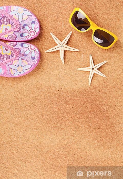 Sticker Pixerstick Summer beach - Vacances
