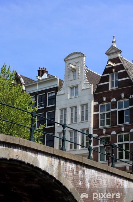Vinyl Fotobehang Amsterdamse grachtenpanden - Europa
