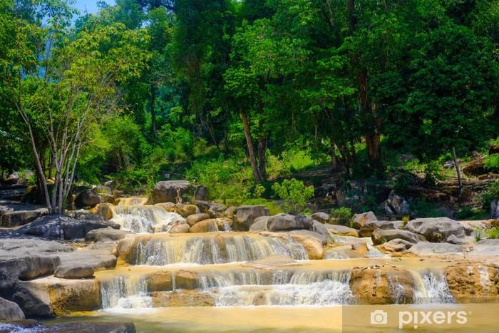 Sticker Pixerstick Cascade dans la jungle - Thèmes