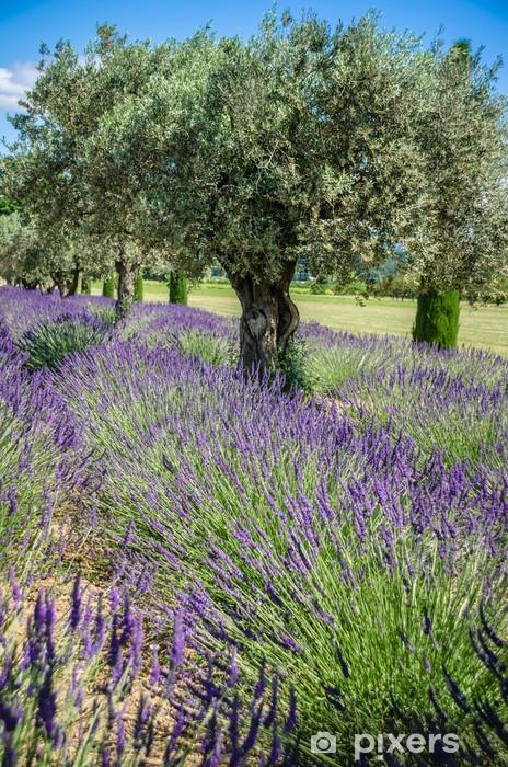 Vinyl Fotobehang Lavendel Raw in de Provence, Frankrijk - Europa