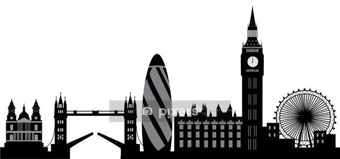 Adesivo da Parete Skyline di Londra - Adesivo da parete