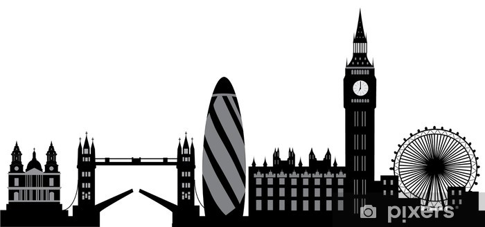 Adesivo Pixerstick Skyline di Londra - Adesivo da parete