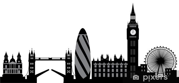 Sticker Pixerstick Horizon de Londres - Sticker mural