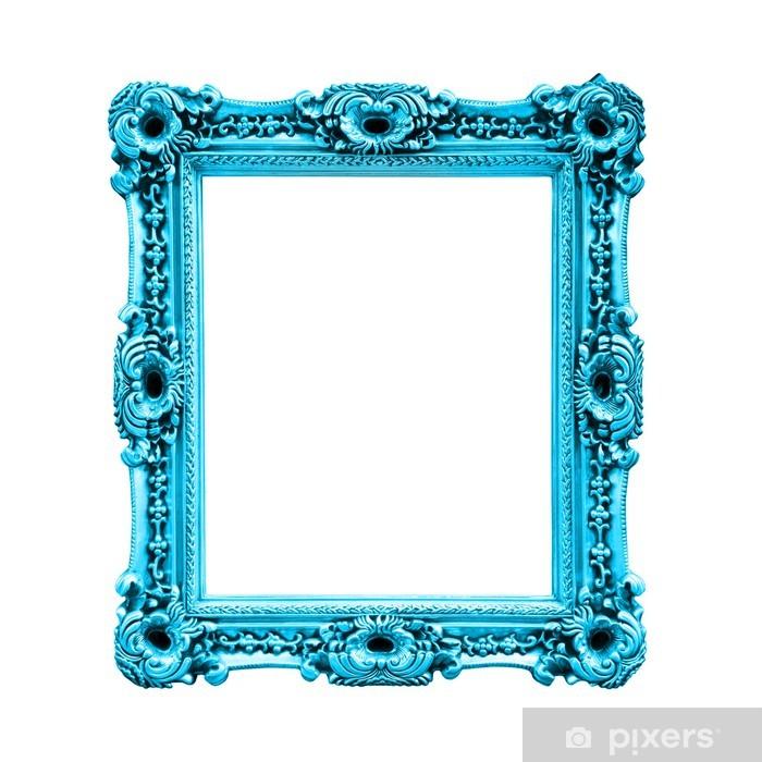 Sticker Pixerstick Cadre rectangulaire bleu turquoise - Art et création