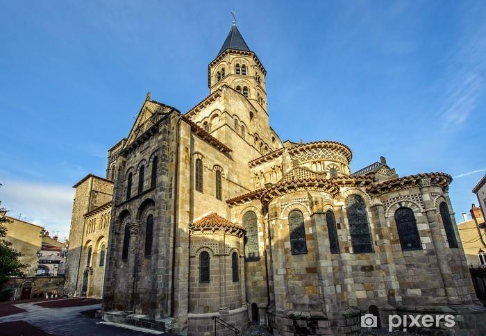 Papier peint La basilique Notre Dame du Port à Clermont Ferrand