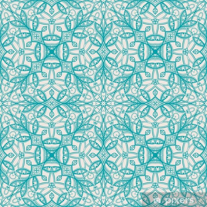 Papier peint vinyle Motif floral de turquoise - Thèmes