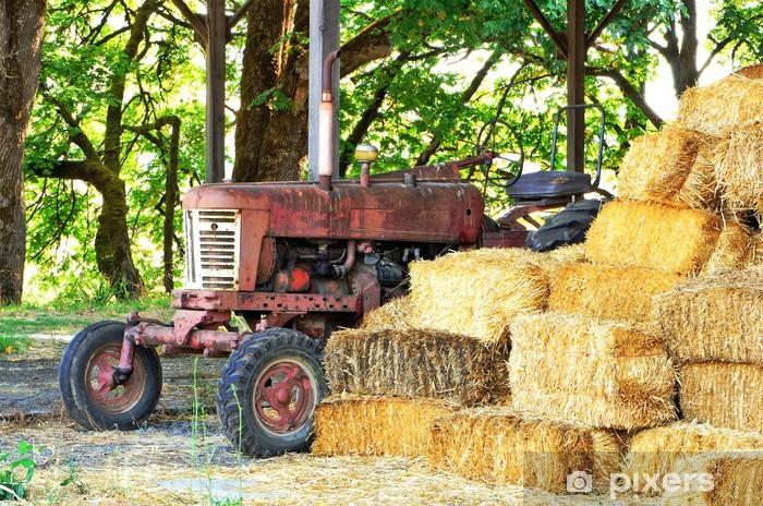Naklejka Pixerstick Stary traktor - Rolnictwo
