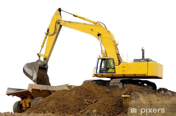 Naklejka Pixerstick Dirt Dig - Maszyny