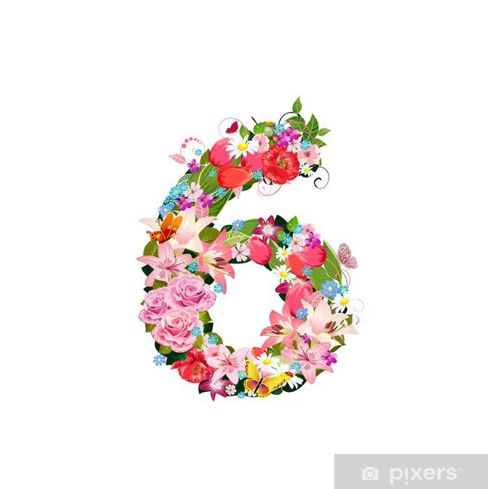 Plakat Romantyczny ilość pięknych kwiatów 6 - Znaki i symbole