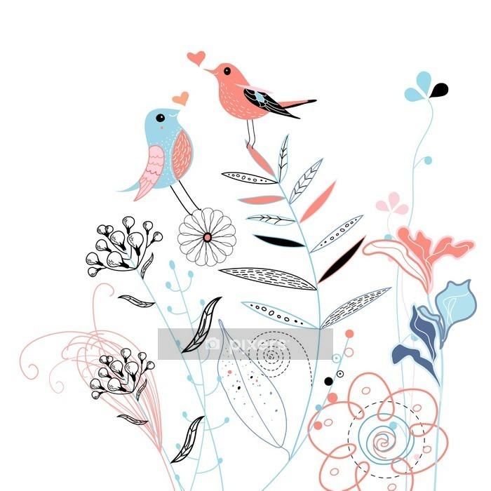 Adesivo da Parete Love birds - Stile di vita
