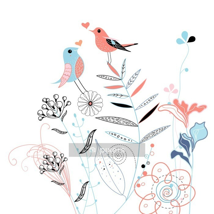 love birds Wall Decal - Lifestyle