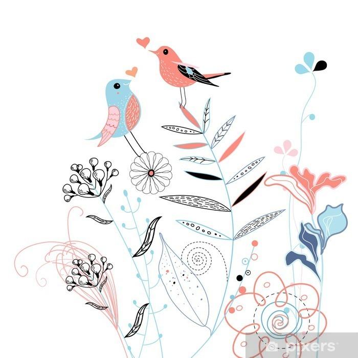 Vinyl Fotobehang Liefde vogels - Levensstijl
