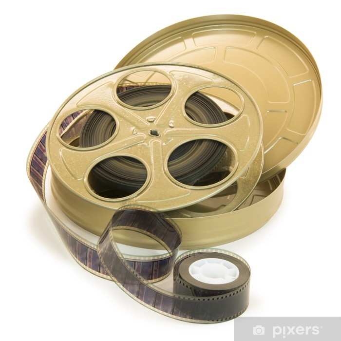 35mm Film In Reel And Its Can Pixerstick Sticker - Entertainment