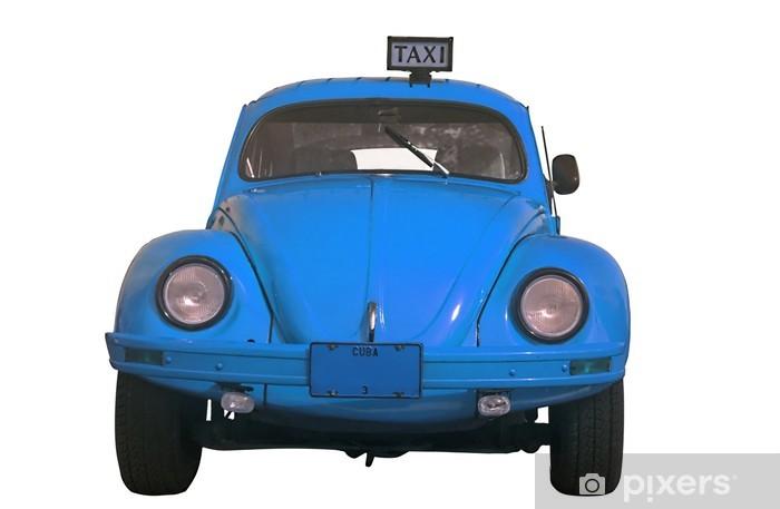 Aufkleber Oldtimer Classic Blue Käfer Auto Isoliert Kuba Pixerstick