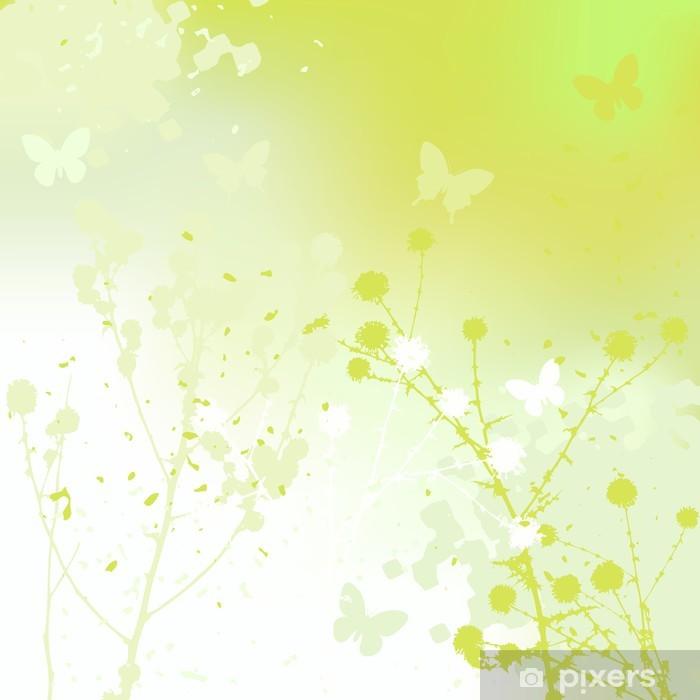 Poster Fond floral, pissenlit. Pré en été. - Merveilles naturelles