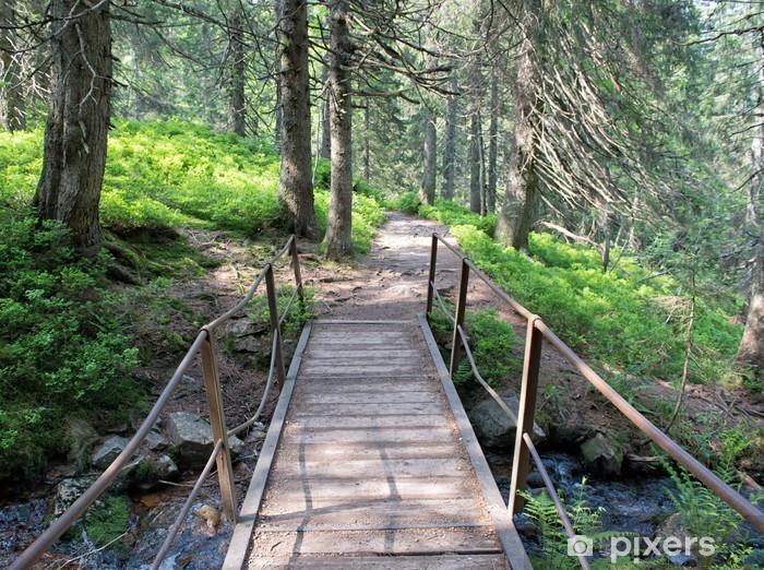 Papier peint vinyle Pont dans la forêt - Merveilles naturelles