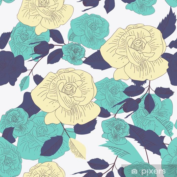 Papier peint vinyle Texture Roses - Arrière plans