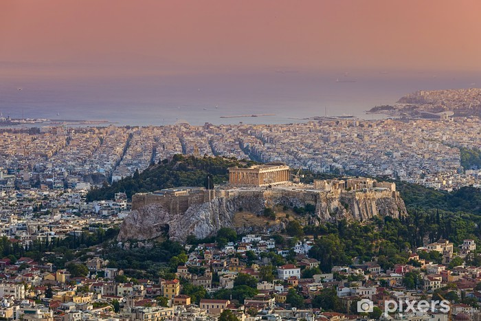 Parthenon temple on the Athenian Acropolis, Greece Vinyl Wall Mural - European Cities
