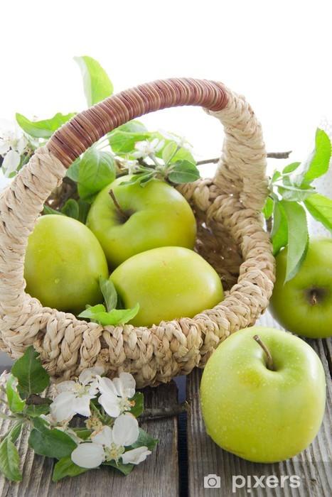 Naklejka Pixerstick Zielone jabłka - Owoce