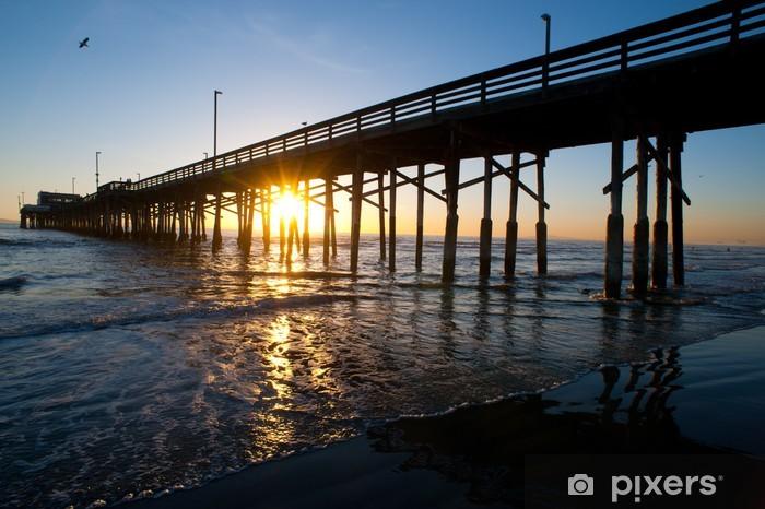 Vinylová fototapeta Newport Beach molo západ slunce - Vinylová fototapeta