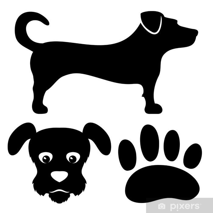 sticker hond tekenen • pixers® - we leven om te veranderen