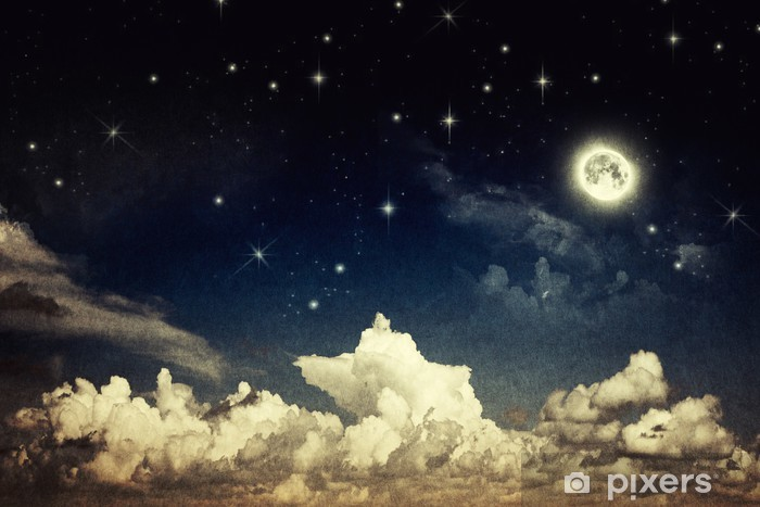 Afwasbaar Fotobehang Vintage nachthemel - Thema's