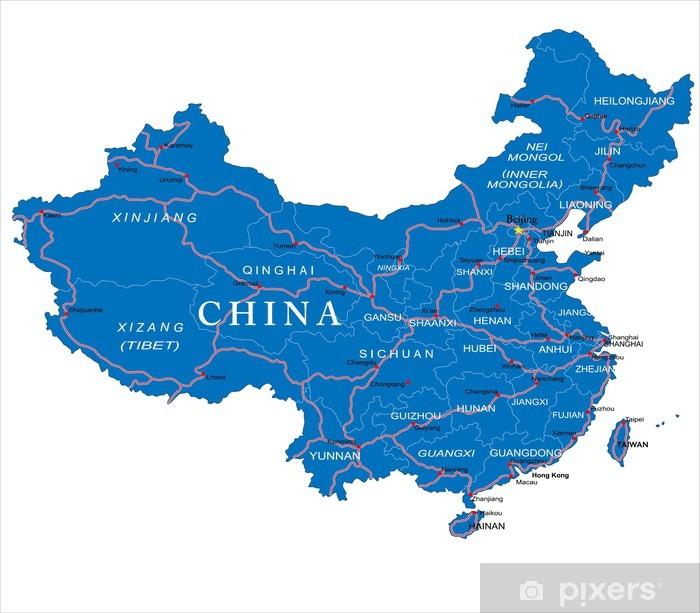Plakat China map - Tematy