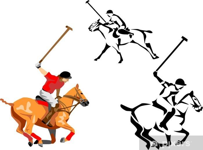 Nálepka Pixerstick Kůň hráč póla - Týmové sporty