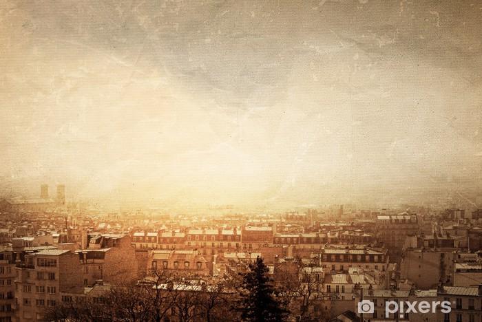 Papier peint vinyle Style rétro paris - Paysages urbains