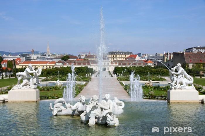 Papier peint vinyle Jardins à l'époque baroque château du Belvédère à Vienne, Autriche - Villes européennes