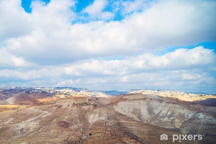 Vinilo Pixerstick Vista de Jerusalén desde el desierto de Judea - Oriente Medio