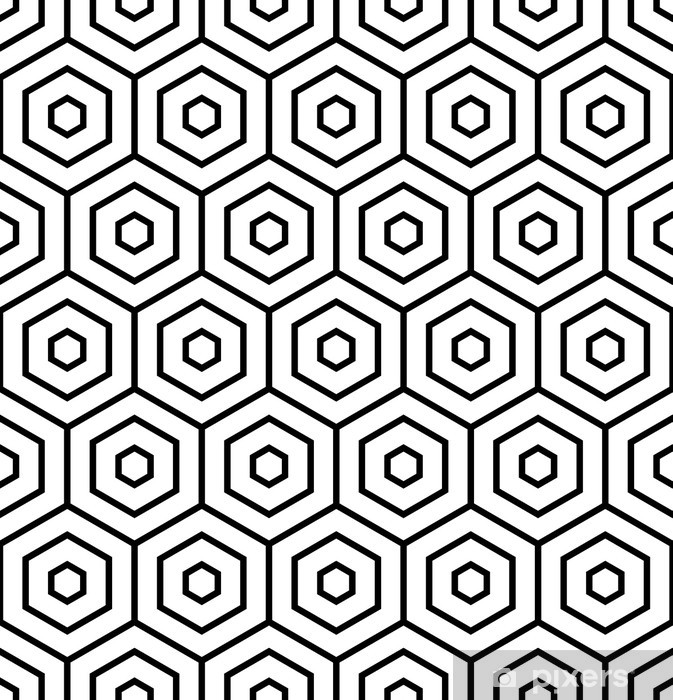 Pixerstick Aufkleber Hexagons Textur. Nahtlose geometrische Muster. - Hintergründe