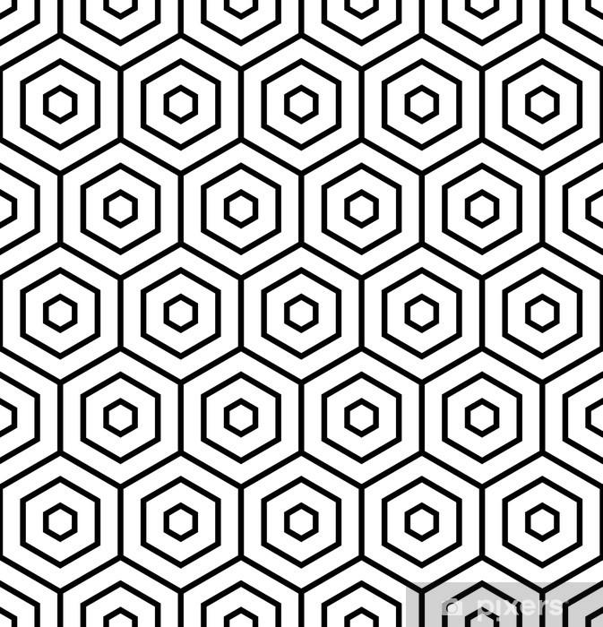 Vinilo Pixerstick Hexágonos textura. Seamless patrón geométrico. - Fondos