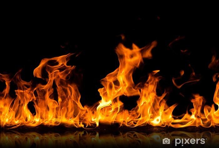 Sticker pour vitres et fenêtres Fire flames - iStaging