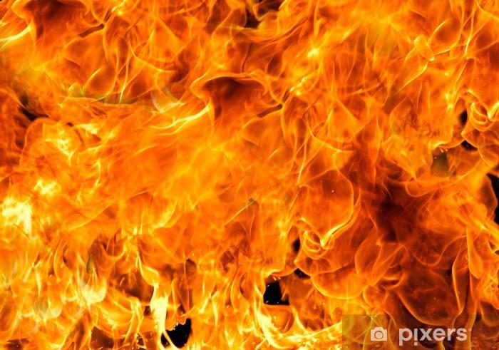 Sticker pour frigo Fire flames - Textures