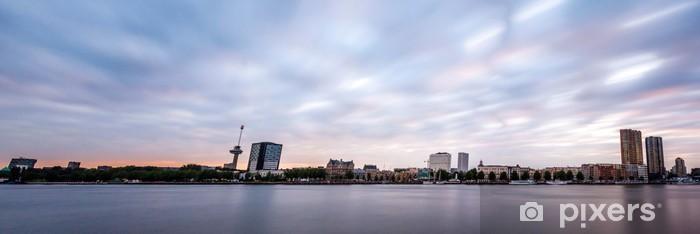 papier peint panorama rotterdam, willemskade • pixers® - nous vivons