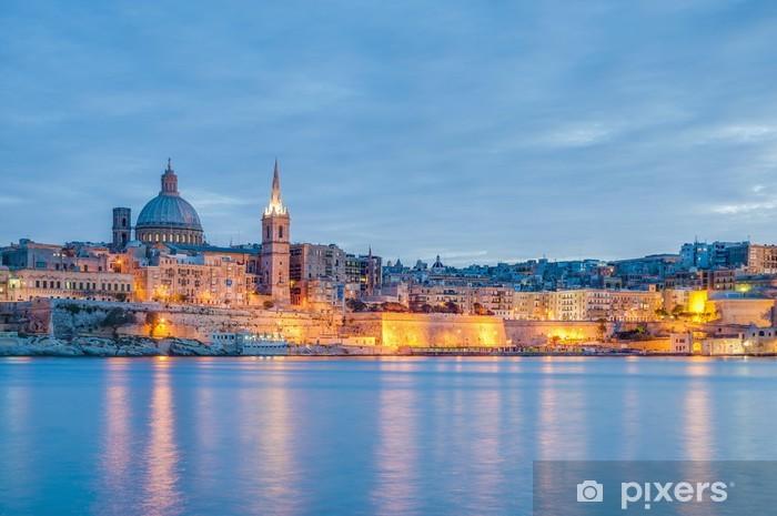 Vinyl-Fototapete Valletta Meer Skyline-Blick, Malta - Europa